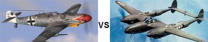 Bf-109 vs P-38
