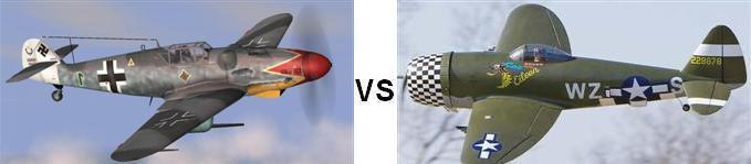 Bf-109 vs P-47