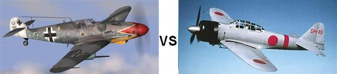 Bf-109 vs Zero