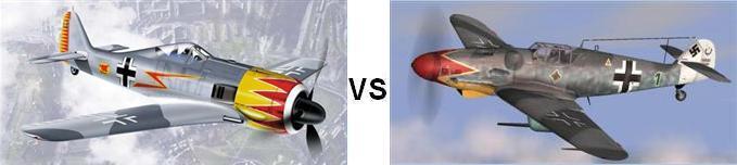 Fw-190 vs Bf-109
