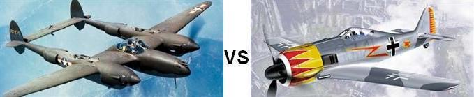 P-38 vs Fw-190